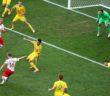 Kuba Błaszczykowski strzela zwyciękiego gola dla Polski w meczu z Ukrainą na Stade Velodrome w Marsylii 21 czerwca br. ALI HAIDER PAP/EPA