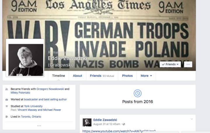 Ostatni wpis na Facebooku - 31 sierpnia 206
