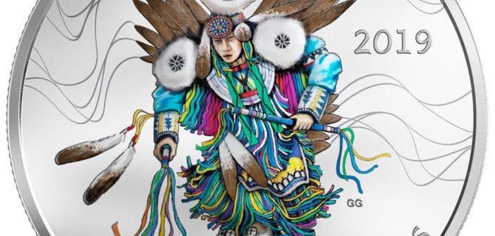 Kanadyjska Mennica Królewska uczciła rdzenną kulturę olśniewającą monetą ze srebra przedstawiającą taniec plemienny