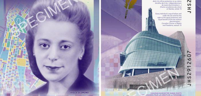 Pierwsza kanadyjska kobieta na pierwszym pionowym banknocie